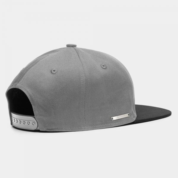 Privileged London Snapback Cap Black and Grey Back