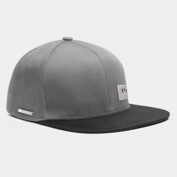 Privileged London Snapback Cap Black and Grey Side