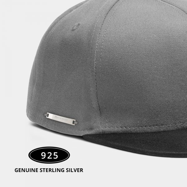 Privileged London Snapback Cap Black and Grey Side Zoomed